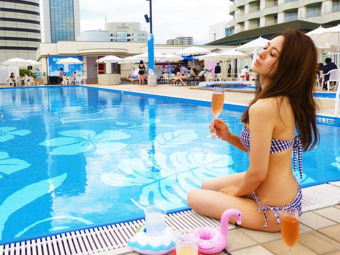 神戸ポートピアホテルにて屋外プールオープン
