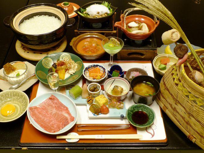 夕食には飛騨牛や日本一のお米「龍の瞳」がおすすめ!