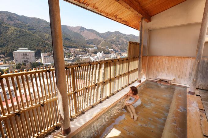 お風呂では下呂温泉の源泉を贅沢に