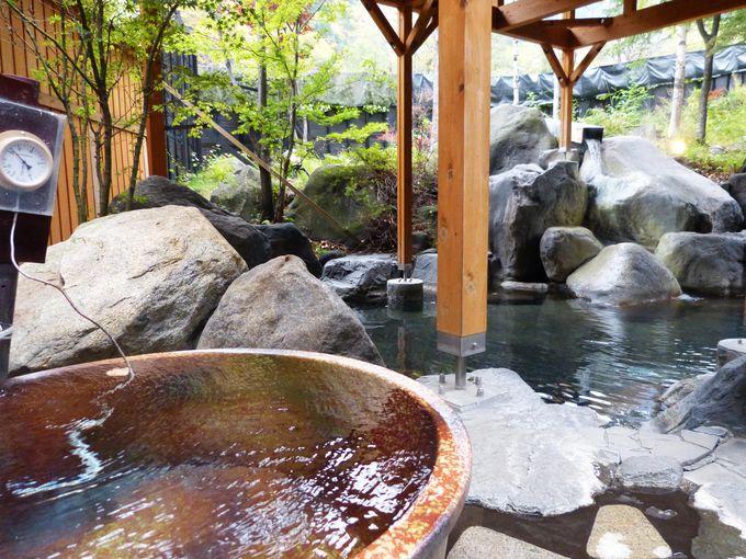 大浴場では2つの温泉をかけ流しで!