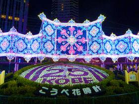 神戸ルミナリエ内「KOBEディライト・ファウンテン」で神戸グルメと光のショーを!