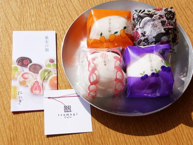 限定イベントでは「京都祇をん ににぎ」のフルーツ大福が登場