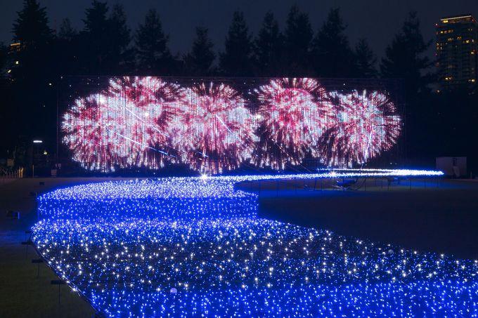 都会の真ん中「東京ミッドタウン」で、新感覚の「日本三大花火大会」