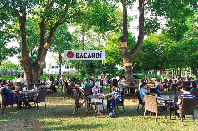 緑に囲まれたミッドタウン・ガーデンカフェもOPEN!