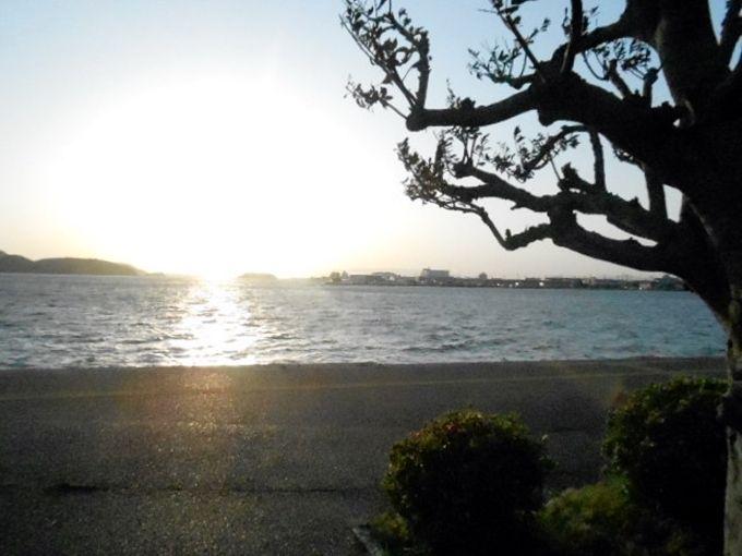 美しい夕景が見られる中海へ!