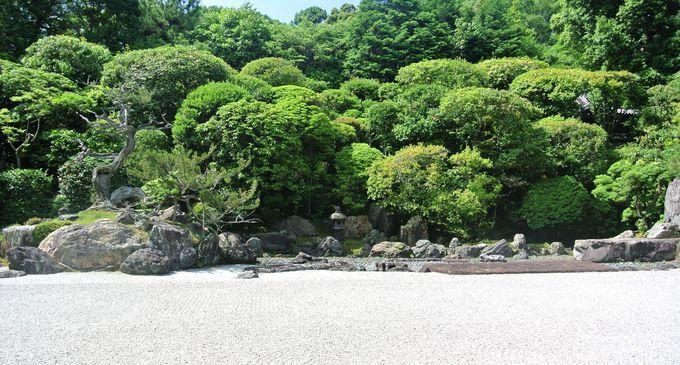 美しい枯山水の庭園