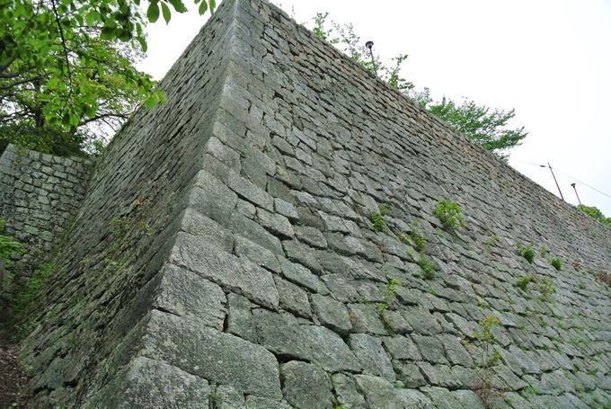 様々な技法を駆使して積まれた石垣に注目