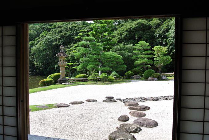 松江藩主の影響を受けた出雲流庭園