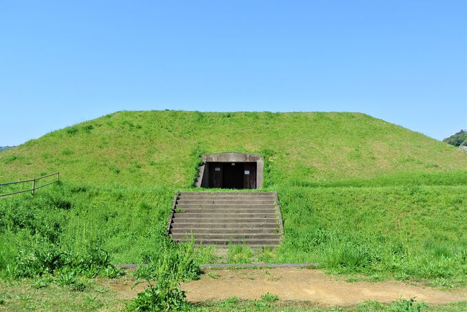 古墳の地層を見学できる施設