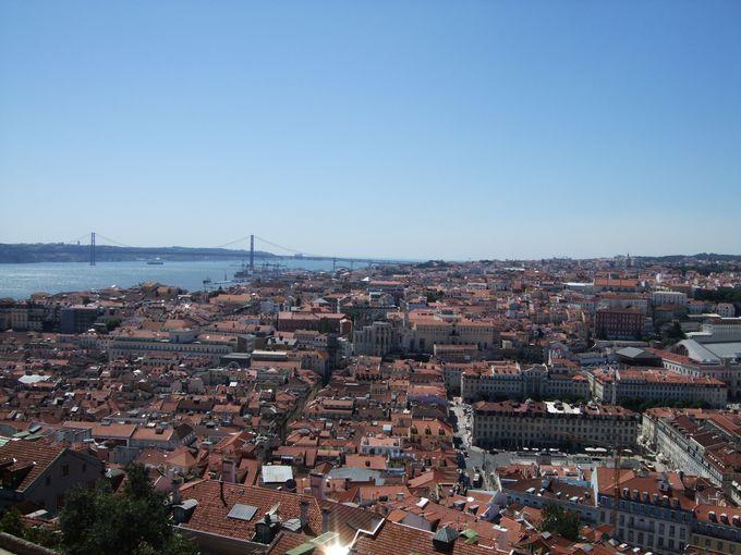 リスボン市内を見渡すサン・ジョルジ城