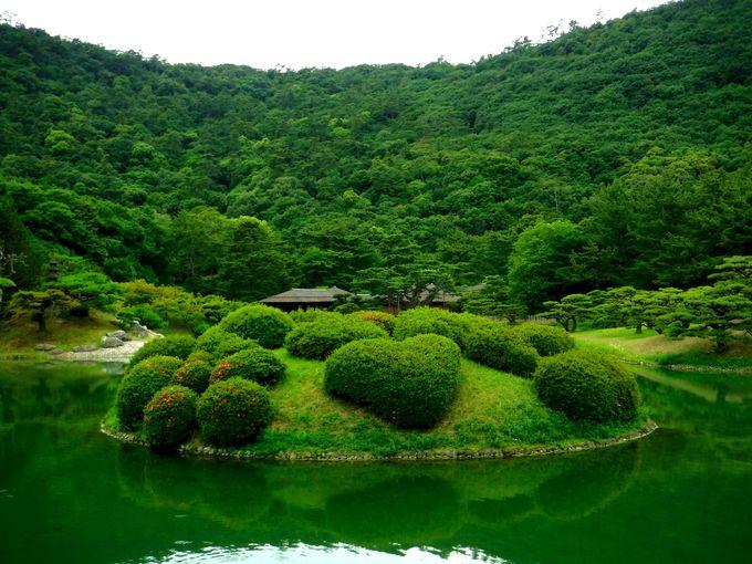 栗林公園の数々の池を満喫しよう!