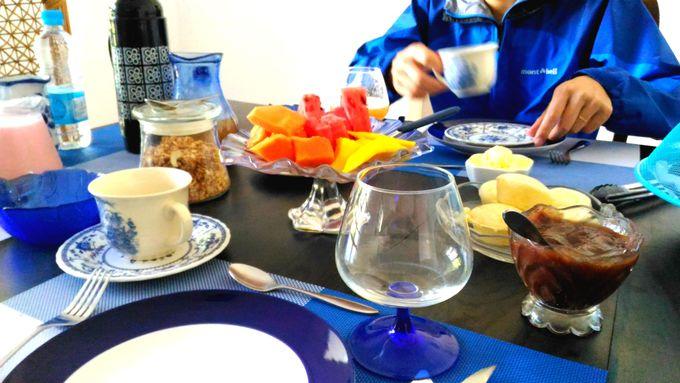 鳥のさえずりを聞きながら、気持ち良い朝食を!