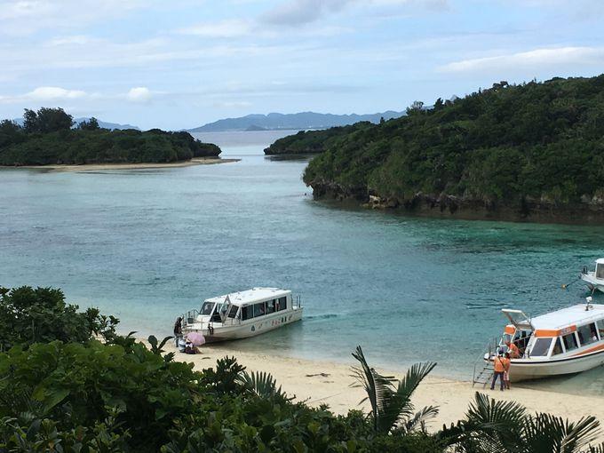 透明度高い日本百景「川平湾」へ
