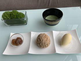 ふんわりした栗を食べる!注文後絞るモンブラン「大阪マリオット都ホテル」