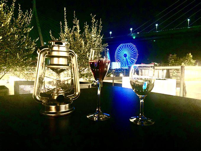 秋の夜長は「リバーサイド・ワインテラス」大阪・リーベルホテル