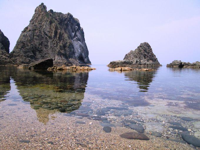 近づくとわかる透明度!島武意海岸の海を間近で見よう!