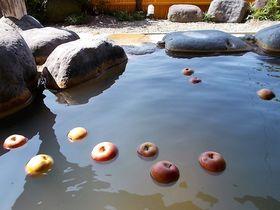 山形「りんご温泉」で可愛いりんごと一緒にぷかぷか