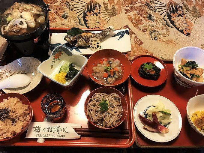 山形旧家のお姫さま膳でおもてなし!郷土料理「梅ヶ枝清水(めがすず)」