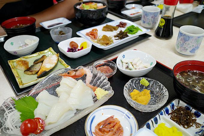 函館ならではの選べる朝食が嬉しい