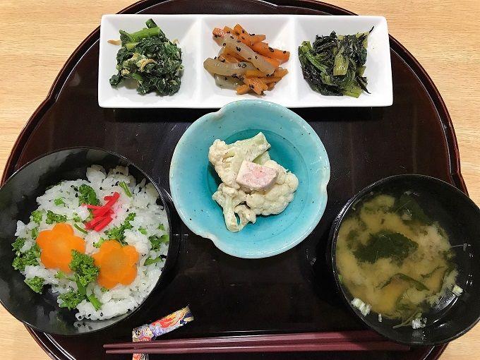 フレッシュ&ヘルシー!採れたて野菜と山菜の500円ランチ