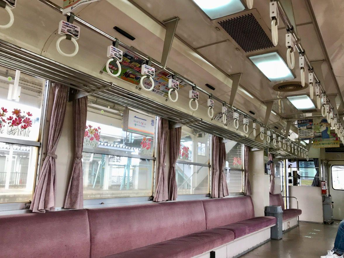 レトロキュートなお花ラッピング列車