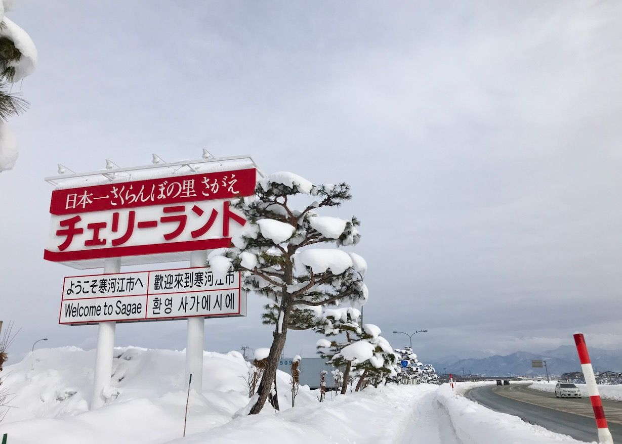 寒河江の冬のアイスと雪景色も楽しもう