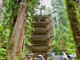 山形・国宝「羽黒山五重塔」と神秘的な参道 現世の道を行く
