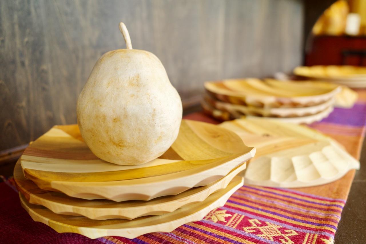 果物の木でつくる「くだものうつわ」フルーツ王国山形のお土産に