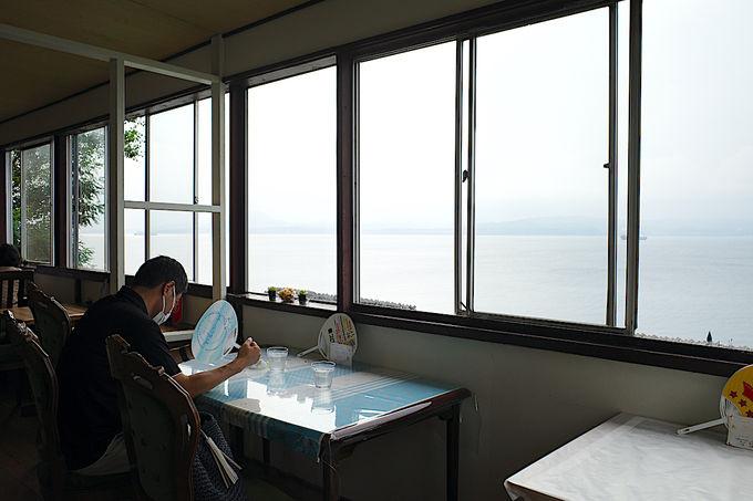 海を眺めながらゆっくりとティータイム
