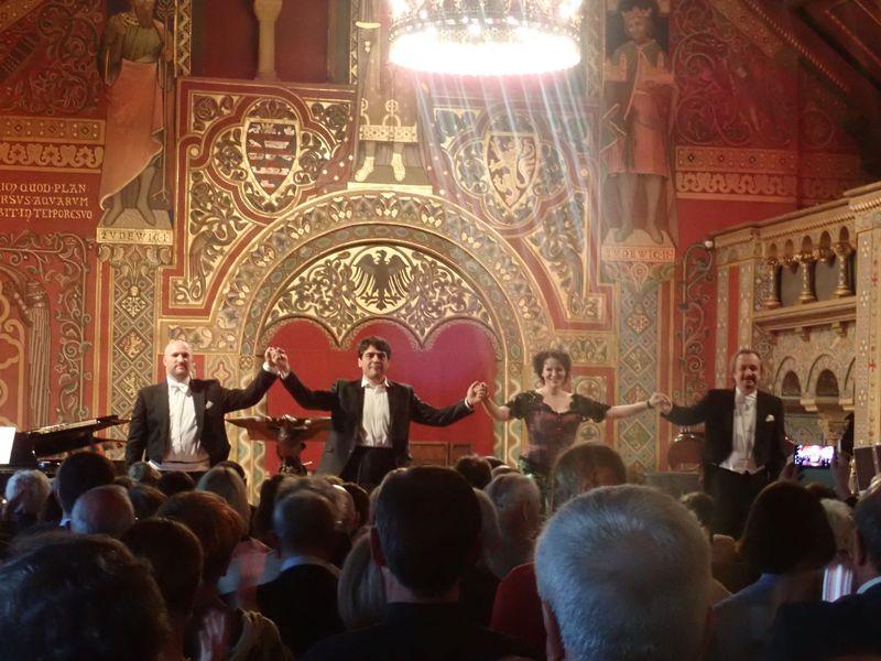 ドイツの世界遺産「ヴァルトブルク城」祝宴の間で奏でる『タンホイザー』