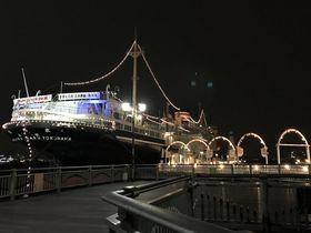 横浜港のシンボル「氷川丸」で船旅気分を味わい、ベイブリッジを臨む