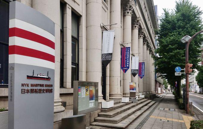 館内はアールデコの日本郵船歴史博物館