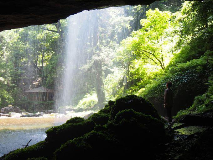 美しすぎる滝の裏側