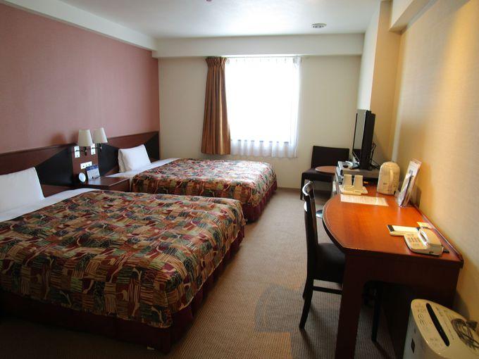 ベッセルホテル苅田北九州空港の部屋は一般的ビジホの約1.5倍の広さ