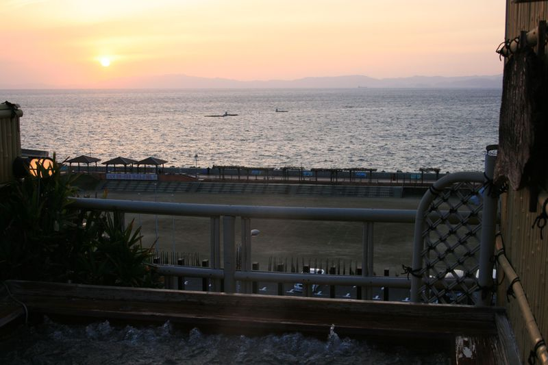 露天風呂から眺める夕陽が絶景!小浜温泉「旅館山田屋」