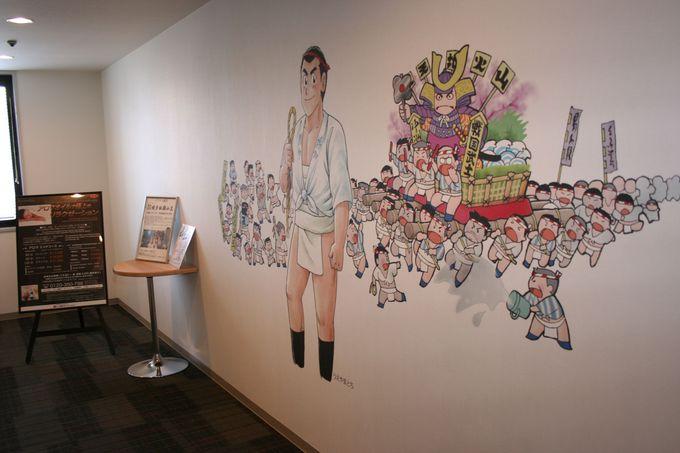 館内は博多のイメージを表現する装飾と充実した設備