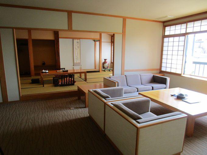 ゆとりの広さ!豪華な貴賓室や離れもある客室