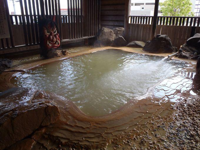 「元湯 雄山閣」の温泉は無加工の源泉100%かけ流し! 本物の温泉を実感