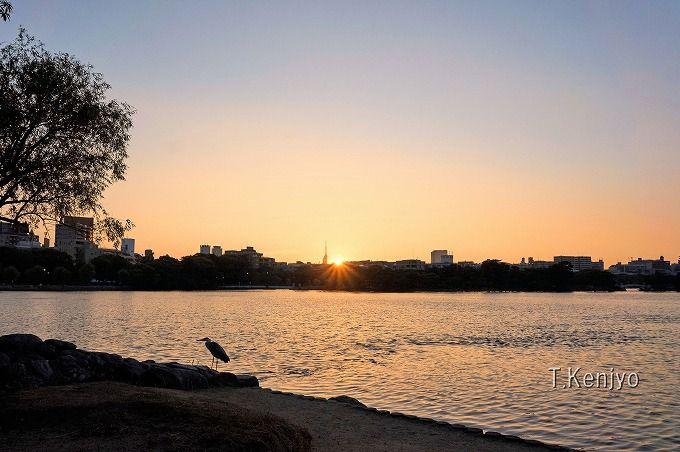 SNS映えする鑑賞ポイント(1):夕日が美しく映える時間帯は日没前30分前後