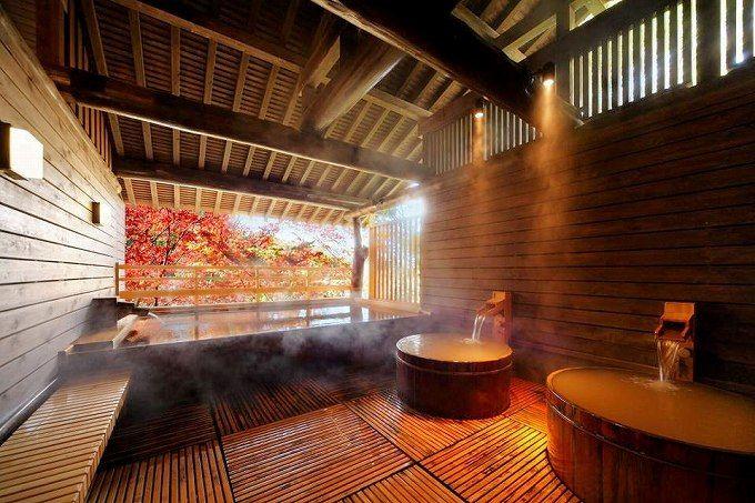 離れの温泉で、良質の温泉と浴室風情を楽しもう!
