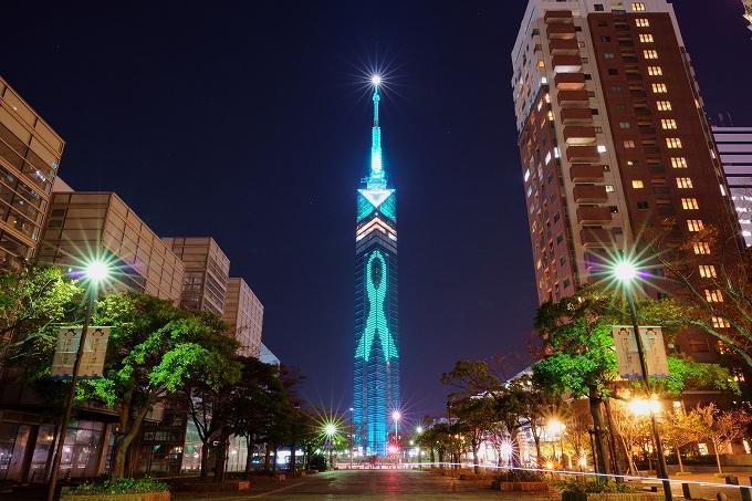 福岡タワーはスリムな外観もスタイリッシュ!