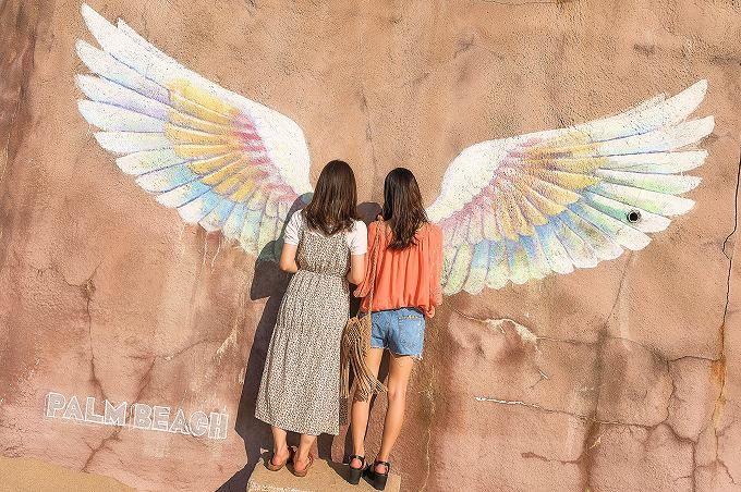 午後〜夕方は「天使の羽」。全国からインスタ女子が集結!