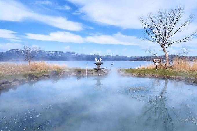 「池の湯」は、足元湧出のインフィニティ温泉!