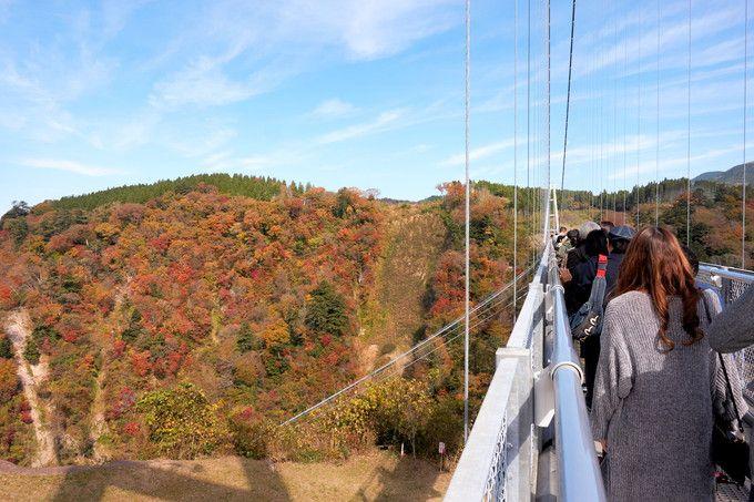 さあ、吊橋を渡ってみよう。所要時間は?