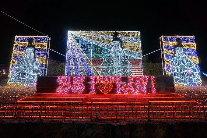福岡「道の駅おおとう桜街道イルミネーション」2018年テーマは平成の歌姫!