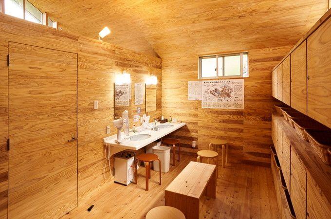新旧の融合美!内湯と脱衣室・休憩室