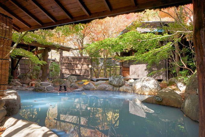 紅葉を楽しんだ後は、温泉でリフレッシュ!