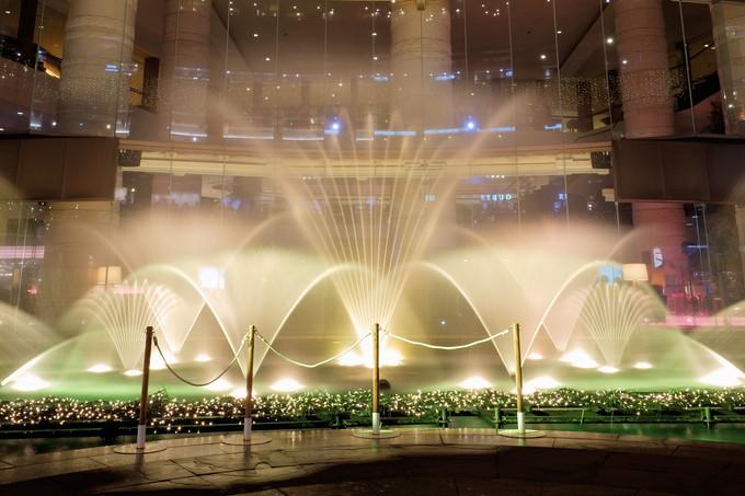 キャナルシティ博多の定番!噴水ショーも必見