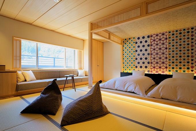 客室は、武家文化と現代を融合をさせた贅沢空間