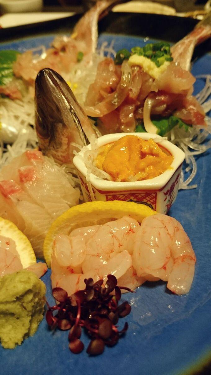 新鮮な駿河湾の魚介類を食べて悶絶